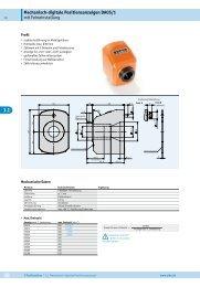 Mechanisch-digitale Positionsanzeigen DA05/1 mit Feineinstellung