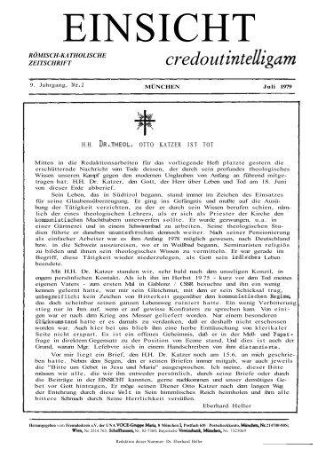 9. Jahrgang, Heft 2 (Juli 1979) - CatholicaPedia