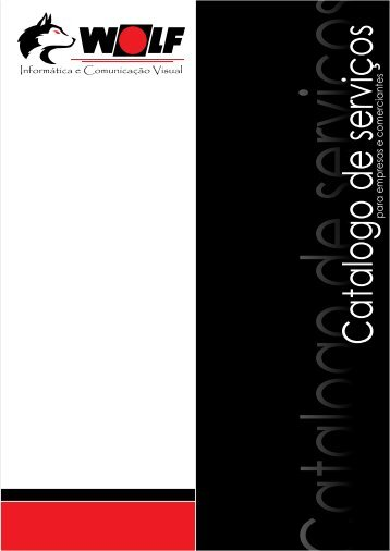 Catalogo de serviços Wolf Comunicação Visual