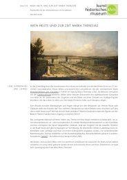 Wien heute und zur Zeit Maria Theresias - Kunsthistorisches Museum