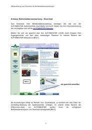 Betriebsdatenauswertung - Onlinehilfe - AUTOMEISTER