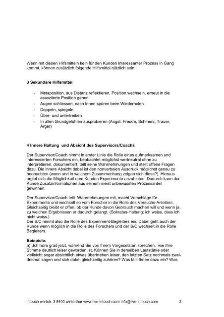 SlowMotions - NLP Akademie Schweiz