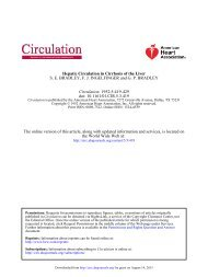 Hepatic Circulation in Cirrhosis of the Liver