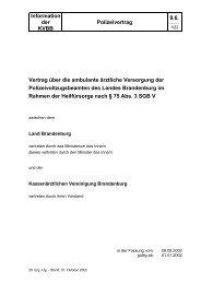 Polizeivertrag - Kassenärztliche Vereinigung Brandenburg