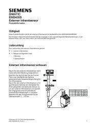 External infrared sensor - Siemens