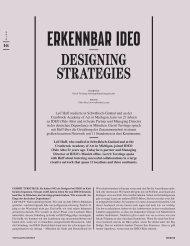 DESIGNING STRATEGIES - Ideo