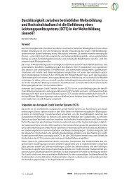 Durchlässigkeit zwischen betrieblicher Weiterbildung und ... - BiBB