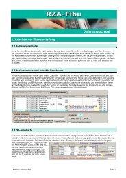 1. Arbeiten vor Bilanzerstellung - RZA Rechenzentrum