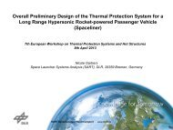 Overall Preliminary Design of the Thermal Protection System for a ...
