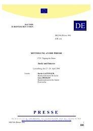 Luxemburg, den 27.-28. April 2006 - Rat der Europäischen Union ...
