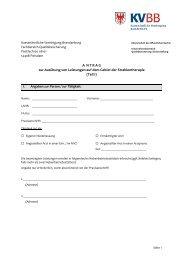 9 Antragsformular - Kassenärztliche Vereinigung Brandenburg