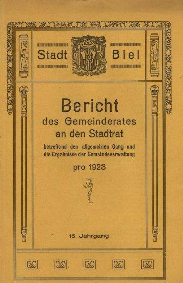 o. Bericht - Stadt Biel