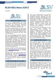 BLSV-Newsletter 5/2013