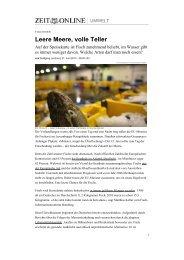 Leere Meere, volle Teller - Slow Food Content Management