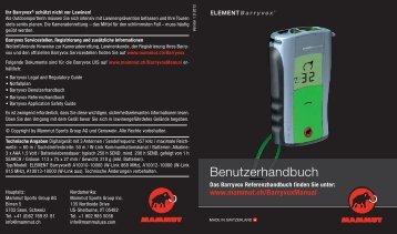 ELEMENT Barryvox® User Manual German - Mammut