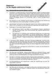 Reglement EW Dintikon - Gemeinde Dintikon