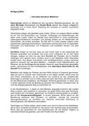 """Wolfgang Miller """" Techniken Narrativer Mediation"""" Geschichten ..."""