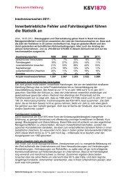 Innerbetriebliche Fehler und Fahrlässigkeit führen die Statistik ... - KSV