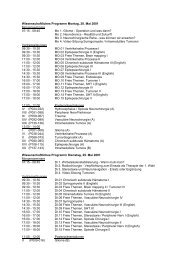 Wissenschaftliches Programm Montag, 28. Mai 2001 ...