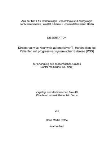 Direkter ex vivo Nachweis autoreaktiver T- Helferzellen bei ...