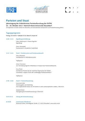 Tagungsprogramm - DVPW