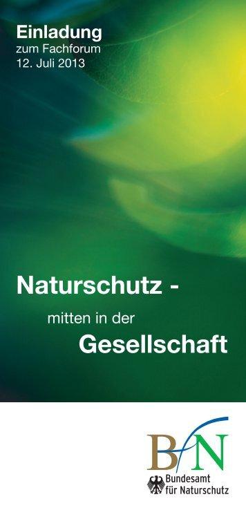 Naturschutz - mitten in der Gesellschaft - Bundesamt für Naturschutz