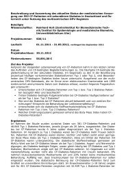 Beschreibung und Auswertung des aktuellen Status der ...