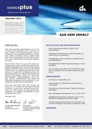 Dezember 2012 - WTS Wohnungswirtschaftliche Treuhand in ...