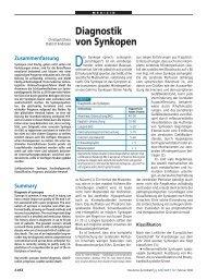 Diagnostik von Synkopen