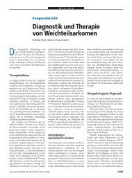 Kongressbericht Diagnostik und Therapie von Weichteilsarkomen