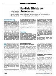 Kardiale Effekte von Amiodaron