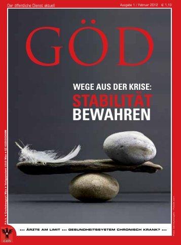 Ausgabe 1/2012 - Gewerkschaft Öffentlicher Dienst