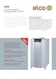 ELCO R600 – Gas-Brennwertkessel – Leistung 23,3 kW – 539 kW
