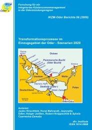 Transformationsprozesse im Einzugsgebiet der Oder - Szenarien 2020