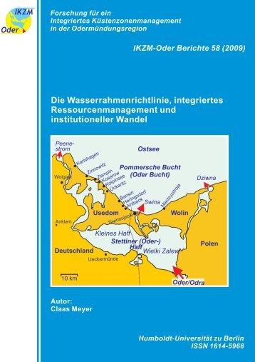 Die Wasserrahmenrichtlinie, integriertes Ressourcenmanagement ...
