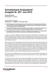 Schoellerbank Analysebrief Ausgabe Nr. 207, Juni 2012