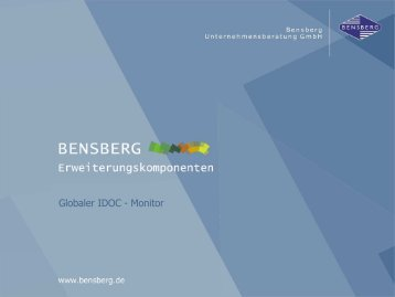 Globaler_IDOC-Monitor [Kompatibilitätsmodus] - Bensberg GmbH