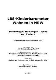 LBS-Kinderbarometer Wohnen in NRW