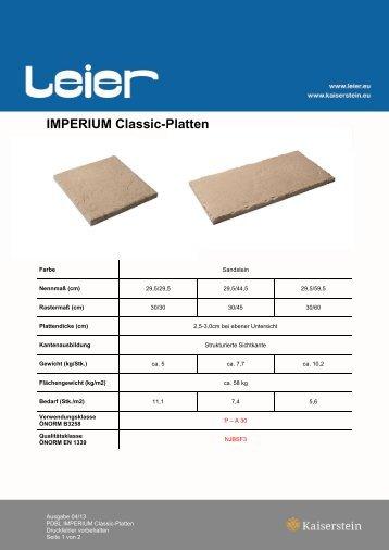 IMPERIUM Classic-Platten - Leier