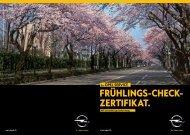 Frühlings-CheCk- ZertiFikat. - Opel.ch