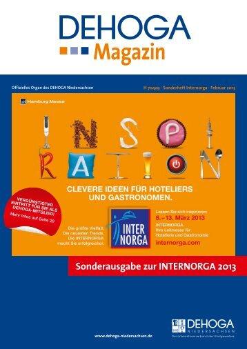 INTERNORGA Sonderausgabe - Februar 2013 - DEHOGA ...