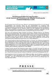 EU-Preisausschreiben für junge Europäer - Rat der Europäischen ...