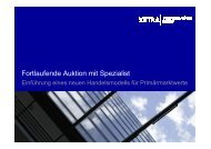 Fortlaufende Auktion mit Spezialist - Deutsche Börse AG