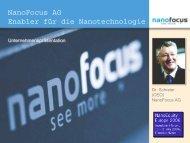 Präsentation NanoFocus AG - Deutsche Börse AG