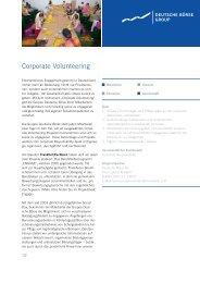 Corporate Volunteering - Deutsche Börse AG