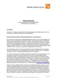 Hausordnung für Mitarbeiter von Fremdfirmen - BSR