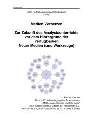 Tagungsband 2008/2009 - Gesellschaft für Didaktik der Mathematik