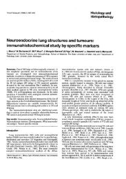 Neuroendocrine lung structures and tumours ... - Digitum