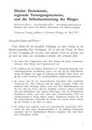 09 08 31 - Direkte Demokratie, regionale Versorgungssysteme ...