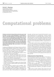 Computational problems - Universiteit Twente
